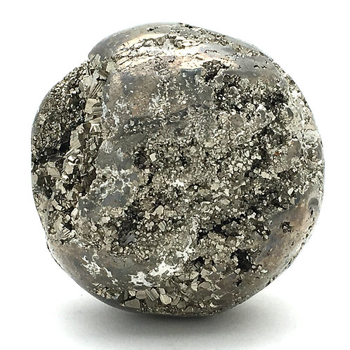 Cubic Pyrite Sphere • Peru • 285.1 grams ~ 53.9mm