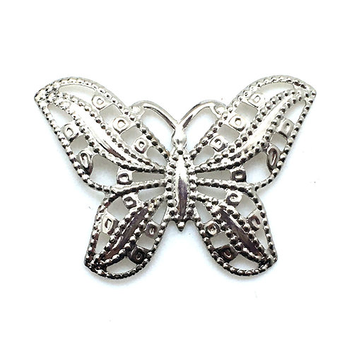 Butterfly Filigree Charm • 31x22mm • 26100MTL-B3122-11   SmokyMountainBeads.com