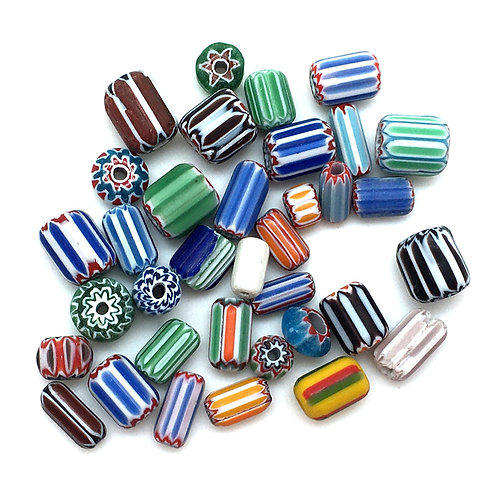 Mixed Chevron Multi Shape Multi Color Beads • 6x5mm-13x12mm • 199100CHV  Smoky Mountain Beads