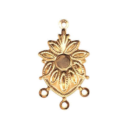 Sunflower Chandelier • 25x14mm • Gold-Plated • 41-372514-25   SmokyMountainBeads.com