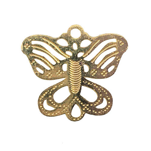 Link Butterfly • 13x12mm • Gold-Plated • 33LINK-871312-25 | SmokyMountainBeads.com