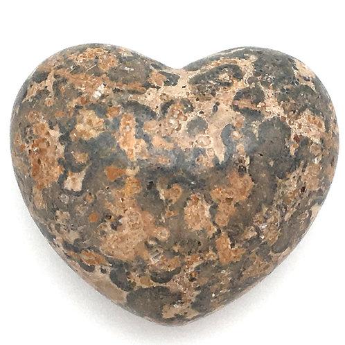 Leopard Skin Jasper Heart • Mexico • 53.4 grams ~ 45x38x25mm