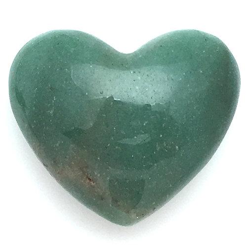 Green Aventurine Heart • Brazil • 50.0 grams ~ 46x39x23mm