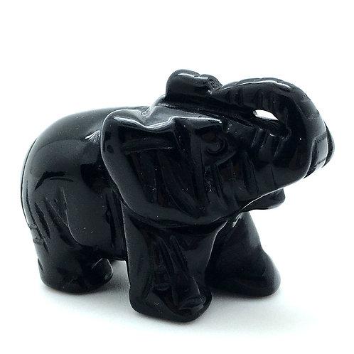 Black Obsidian Elephant • Mexico • 44.1 grams ~ 49x25x35mm