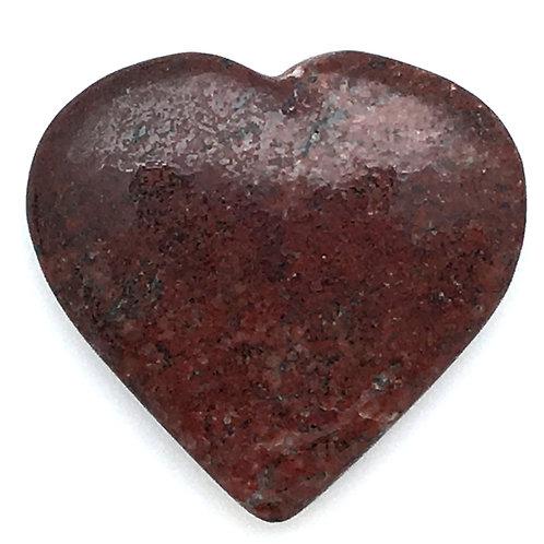 Plume Agate Flat Heart • Brazil • 8.7 grams ~ 31x29x7mm