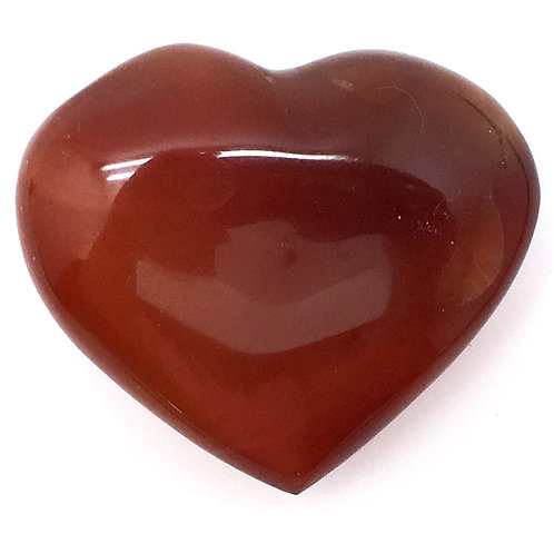 Carnelian Heart • Madagascar • 34.6 grams ~ 43x38x15mm