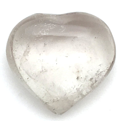 Smoky Quartz Heart • Madagascar • 14.7 grams ~ 30x28x13mm