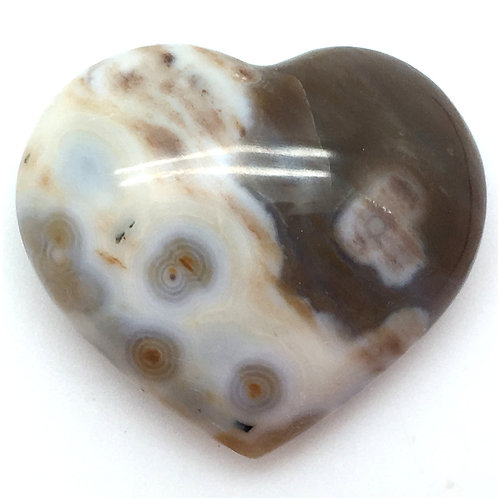 Ocean Jasper Heart • Madagascar • 31.9 grams ~ 36x42x16mm