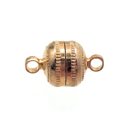 Magnetic Clasp • Round • 14x8mm • Gold-Plated • 44MAG-170-1408-25 | Smoky Mountain Beads