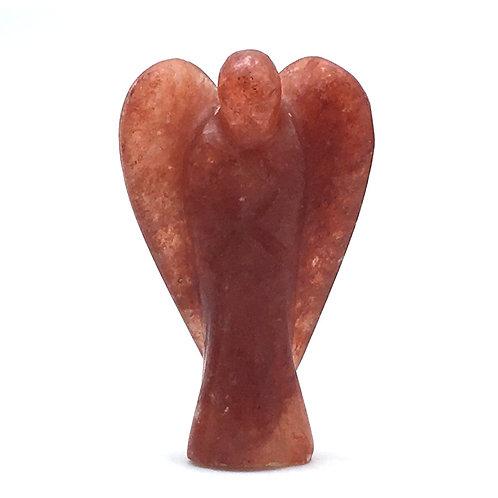 Red Aventurine Angel • 23.4 grams ~ 50x31x15mm • 97100AVR-23-4 | SmokyMountainBeads.com