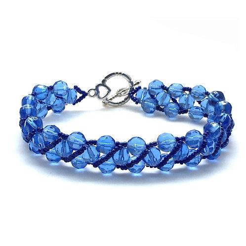 Sapphire Blue Czech Reversible Bracelet S5BR005