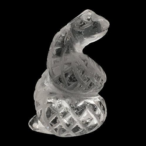 Quartz Snake • 6.2 grams ~ 24x17x15mm • 87100SNK-QC-6-2 | SmokyMountainBeads.com