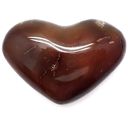 Carnelian Heart • Madagascar • 38.1 grams ~ 47x33x19mm
