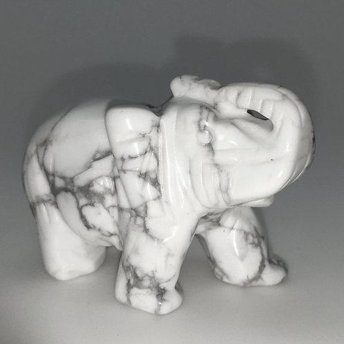 Howlite Elephant • United States • 65.8 grams ~ 52x27x36mm 87100ELE-HOW-65-8