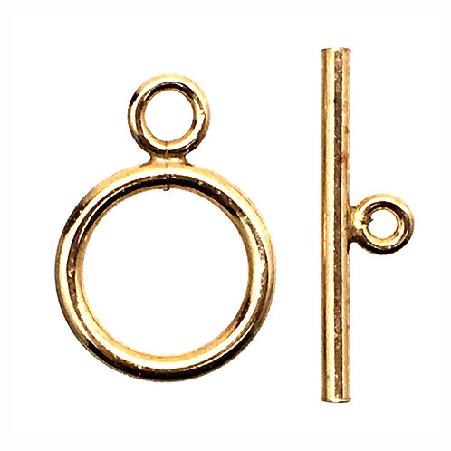 Round Toggle Clasp • 17x12mm • Gold-Plated • 44TOG-70-1712-25 | Smoky Mountain Beads