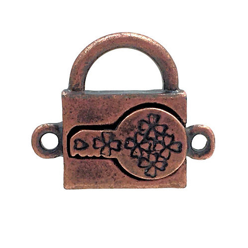 Magnetic Clasp • Padlock • 20x18mm • Antiqued Copper • 44MAG-1LOCK-2018-18 | Smoky Mountain Beads