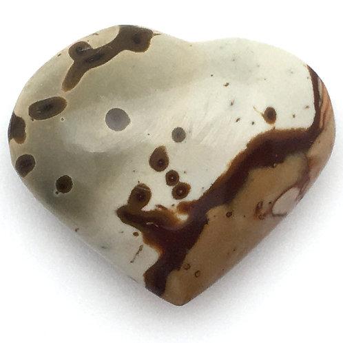 Polychrome Desert Jasper Heart • Madagascar • 18.6 grams ~ 37x30x14mm