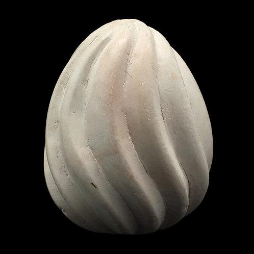Kisii Stone Fluted Egg • Kenya • 282.9 grams ~ 74x57mm 69100KS-282-9