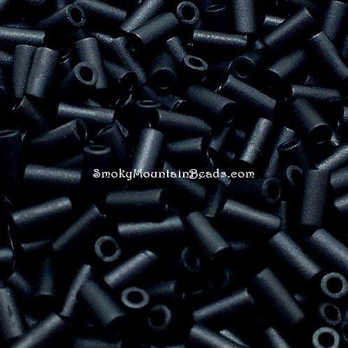 Matte Opaque Black Bugle • 3mm • 0310-BB-401F | SmokyMountainBeads.com