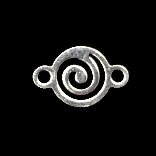 Link Swirl • 11x7mm • Silver-Plated • 33LINK-1107-11   SmokyMountainBeads.com