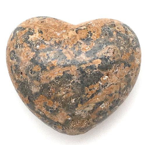 Leopard Skin Jasper Heart • Mexico • 54.9 grams ~ 45x39x25mm