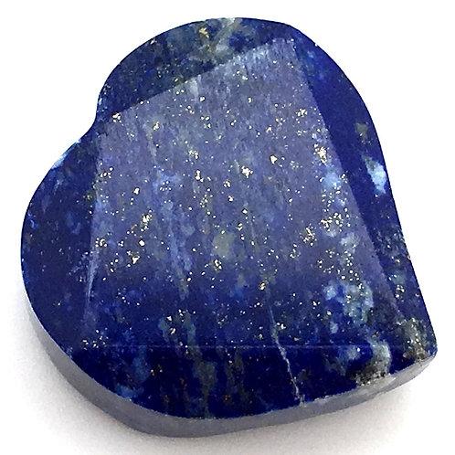 Lapis Lazuli Heart • Top Grade Drilled • Afghanistan • 16.6 grams ~ 29x30x12mm