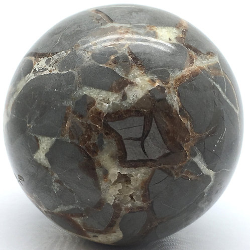 Septarian Sphere • Mexico • 375.0 grams ~ 64.5mm