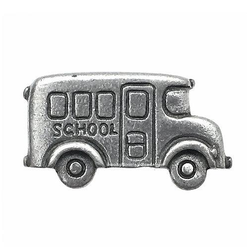 School Bus Pewter Shank Button • 13x23mm • DF0024-50 | SmokyMountainBeads.com