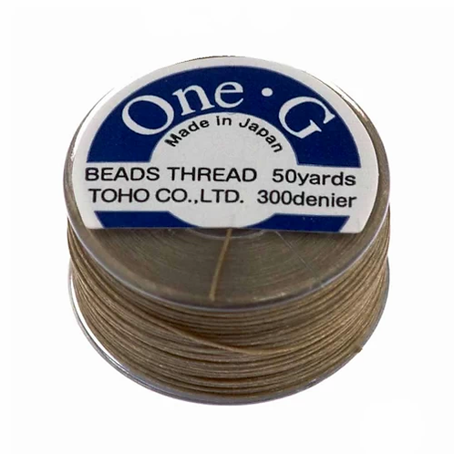 Sand Ash • One-G® Nylon Thread | SmokyMountainBeads.com