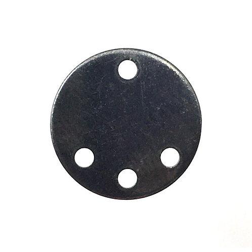 Round Chandelier Link • 13mm • Gunmetal-Plated • 41-701305-13 | SmokyMountainBeads.com