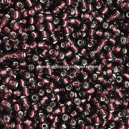 11-13 Silver-Lined Dark Smoky Amethyst 11/0 Miyuki Seed Beads | SmokyMountainBeads.com
