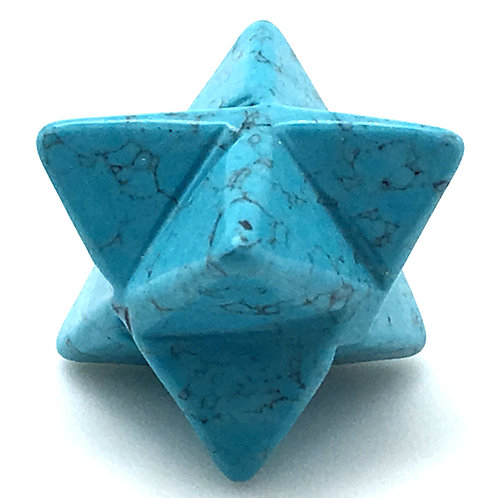 Howlite Merkaba • USA • 7.5 grams ~ 28x18mm