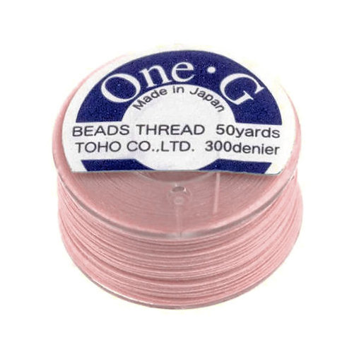 Pink • One-G® Nylon Thread   SmokyMountainBeads.com