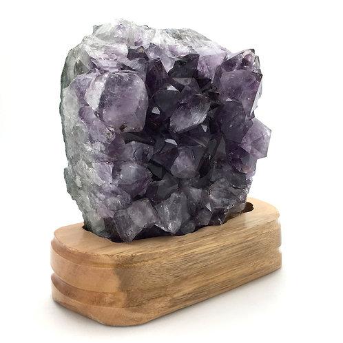 """Amethyst Geode • Oak Stand • Brazil • 1.912 kg ~ 6.5z6x3"""""""