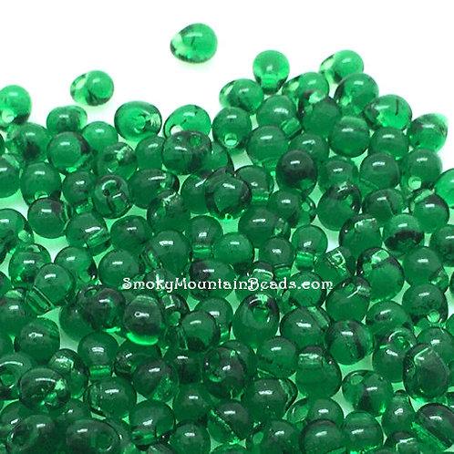 Transparent Green Drop Beads • 3.4mm • DP-146 | Smoky Mountain Beads