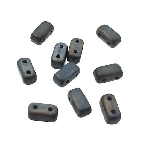 Matte Iris Brown • Bricks • Czech • 3x6mm • 365-36-M21115   Smoky Mountain Beads
