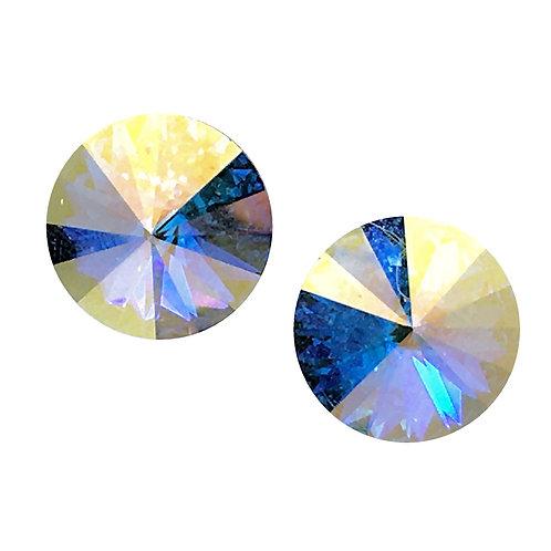 Swarovski Rivoli Earrings • Crystal Transmission • ER1122-001CTST14 | SmokyMountainBeads.com