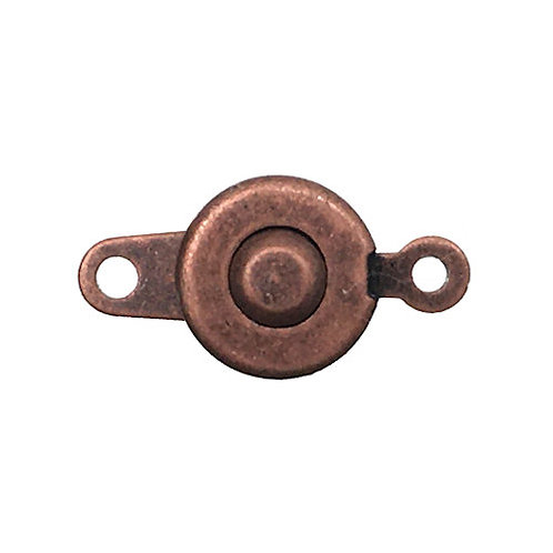 Button Snap Clasp • 7mm • Antiqued Copper • 44BTN-107-18 | Smoky Mountain Beads