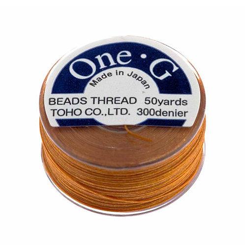 Orange • One-G® Nylon Thread | SmokyMountainBeads.com