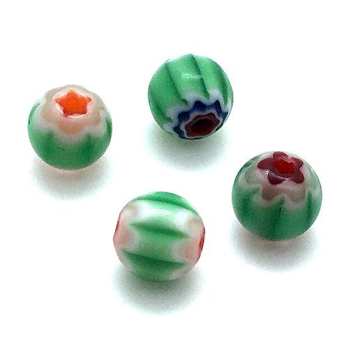 Chevron Multi Beads • 8x10-10x10mm (4) • 172100CHV-1008MIX-4 | SmokyMountainBeads.com