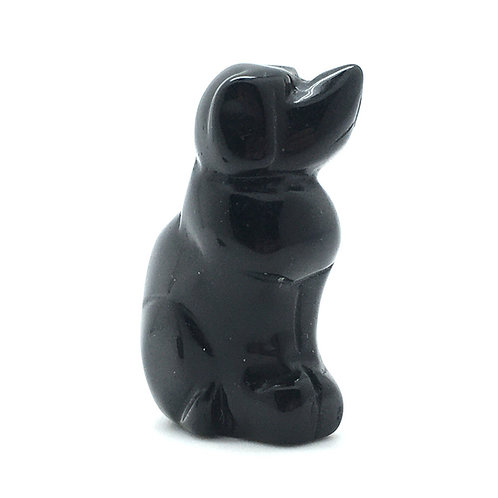 Black Obsidian Dog • Mexico • 49.6 grams ~ 51x34x22mm