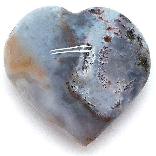 Ocean Jasper Heart • Madagascar • 32.8 grams ~ 37x39x20mm