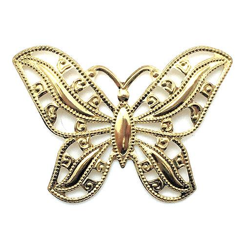 Butterfly Filigree Charm • 53x37mm • 26100MTL-B5337-25 | SmokyMountainBeads.com