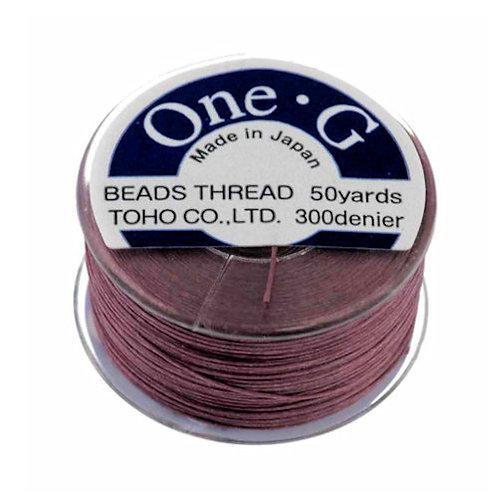 Mauve • One-G® Nylon Thread | SmokyMountainBeads.com