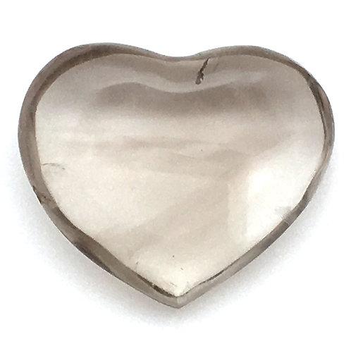 Smoky Quartz Heart • Madagascar • 11.7 grams ~ 31x26x11mm