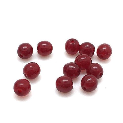 Siam Ruby Crystal Druk Czech • 6 mm 5-06-9008 | Smoky Mountain Beads