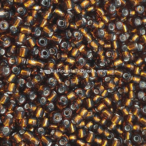 11-5 Silver-Lined Dark Topaz 11/0 Miyuki Seed Beads | SmokyMountainBeads.com