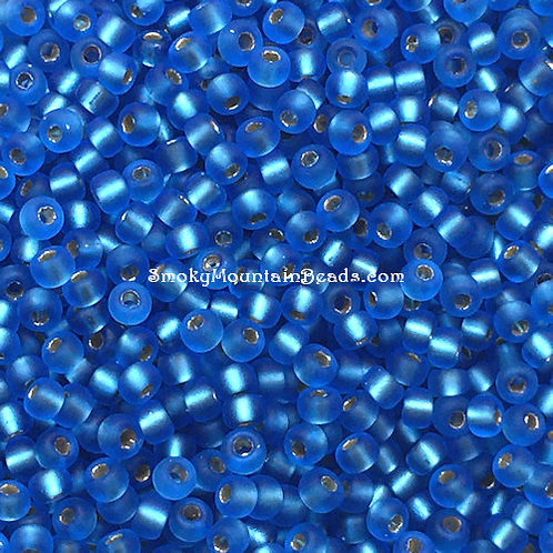11-19F Silver-Lined Matte Sapphire 11/0 Miyuki Seed Beads | SmokyMountainBeads.com