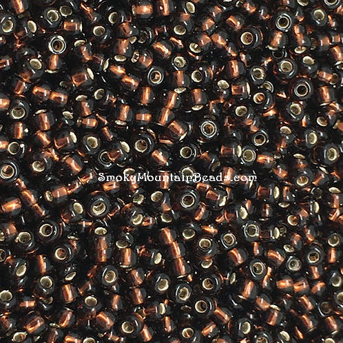 11-5D Silver-Lined Rusty Brown 11/0 Seed Beads | SmokyMountainBeads.com