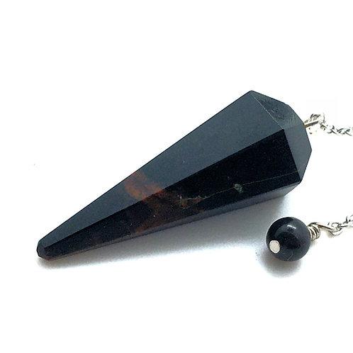 Agate Pendulum • 9.6 grams ~ 39x16mm   SmokyMountainBeads.com
